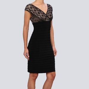 Adrianna Papell Bodycon Deep V Dress